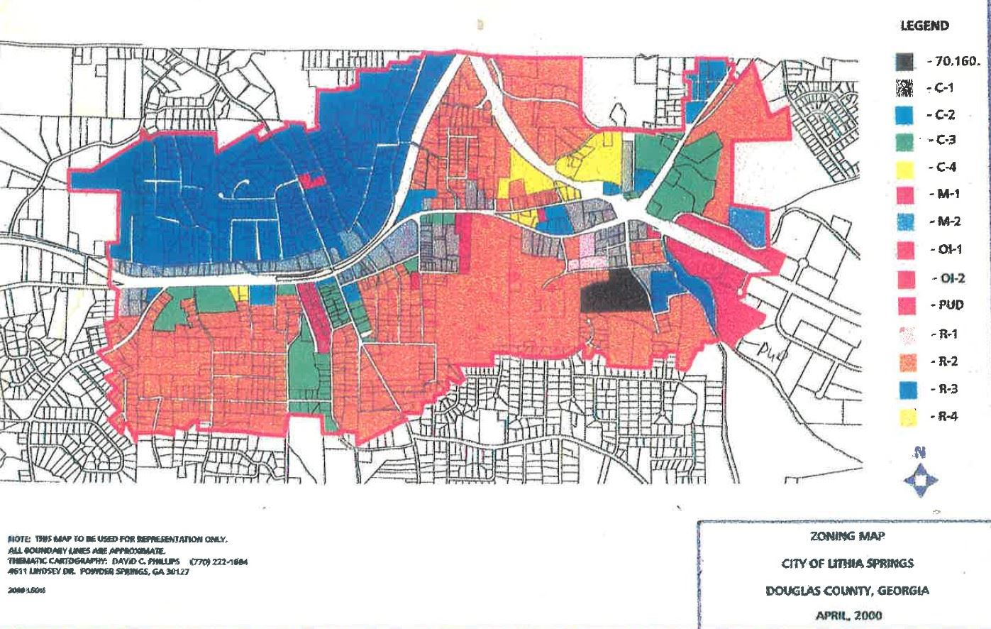 Lithia Springs Zoning Map 2000