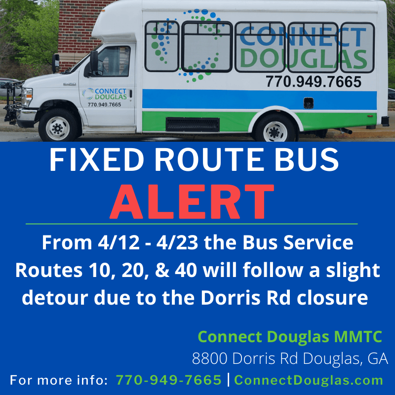 Connect Douglas Rider Alert: Dorris Rd Closure
