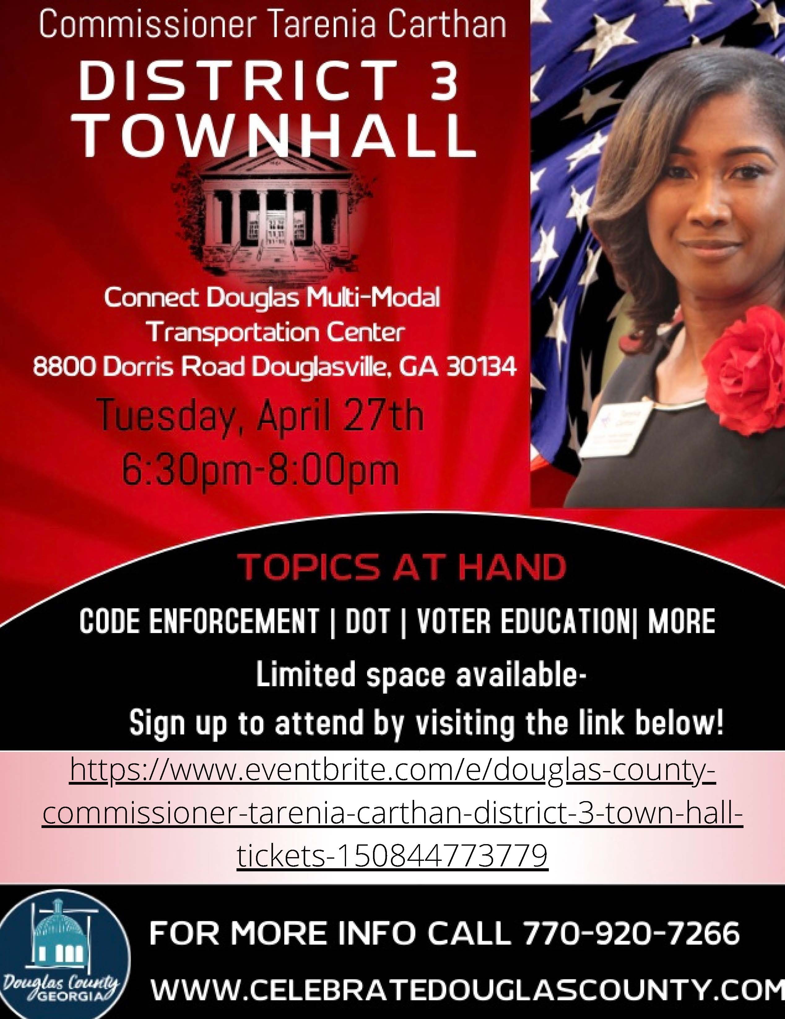 District 3 Updated Townhall Flyer