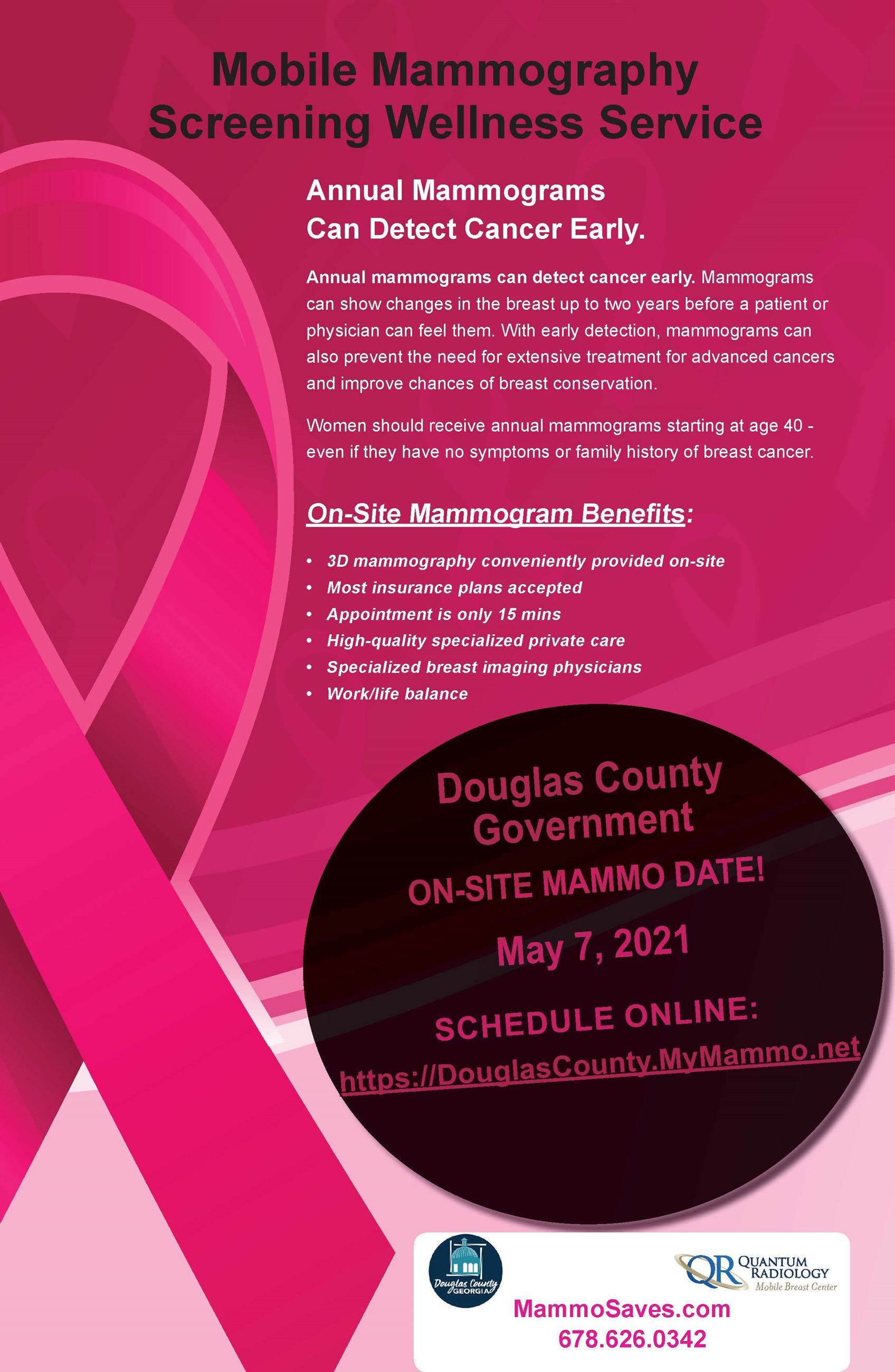 Douglas County Government - QR Mobile Mammo Poster 5-7-21